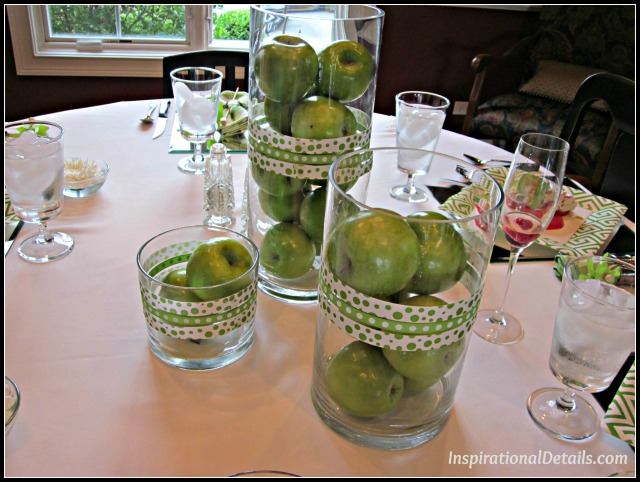 green apple theme tablescape