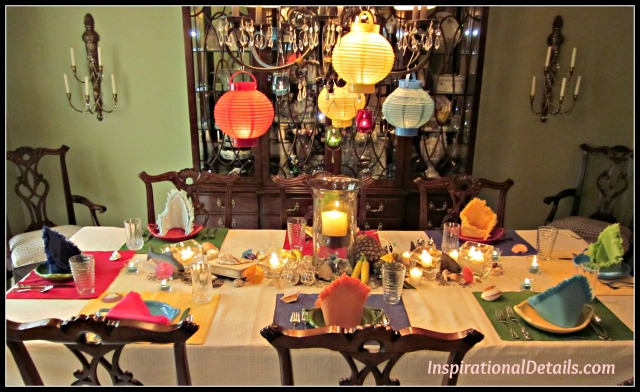 Tommy Bahama Themed Dinner Party Inspirational Details