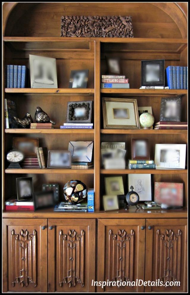 arranging interesting book shelves