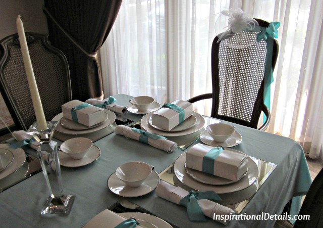 Blue theme bridal shower tea - InspirationalDetails.com