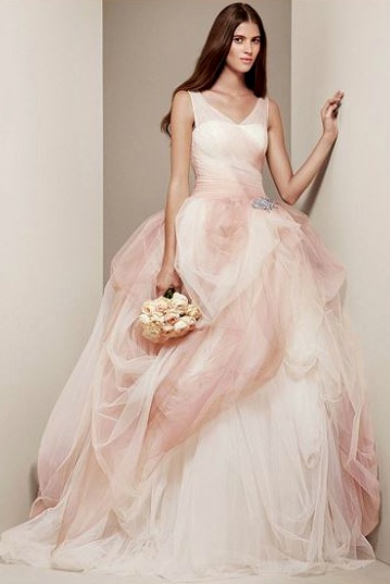 Vera Wang White Ball Gown Photo source: David's Bridal