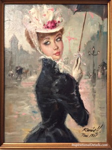 One of my very favorite finds in an antique store...painted in Paris 1907