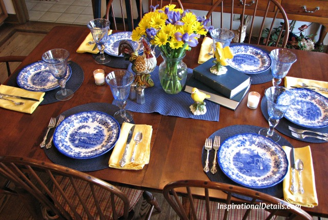 French-inspired tablescape - InspirationalDetails.com