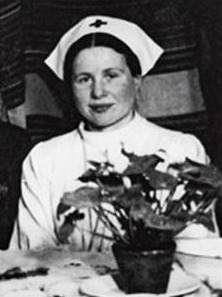 Irena Sendler in her nurses uniform in World War II Photo source: irenasendler.org