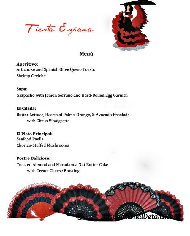 Spanish-theme menu - InspirationalDetails.com