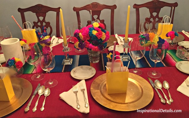Spanish-theme tablescape - InspirationalDetails.com