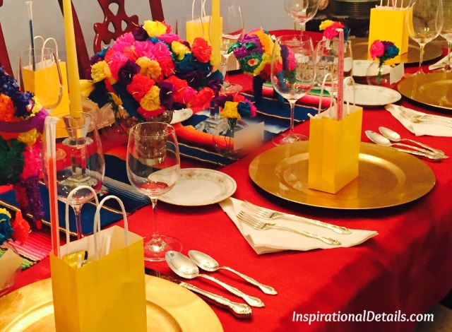 Spanish theme tablescape - InspirationalDetails.com
