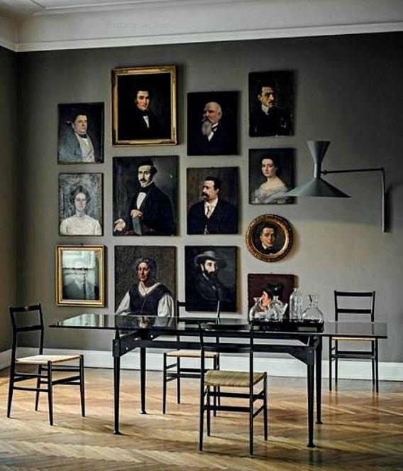 themed art gallery walls