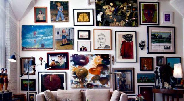 InspirationalDetails.com - art gallery walls