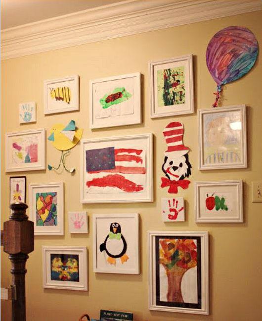 kids art gallery walls