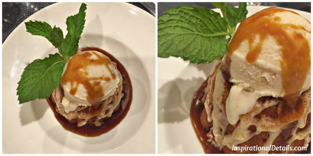 maple glazed pound cake with ice cream & bourbon caramel