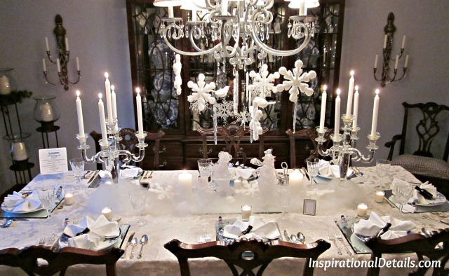 white theme Christmas table