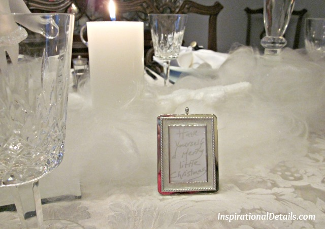 a White Christmas theme dinner party