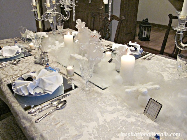 white winter wonderland tablescape