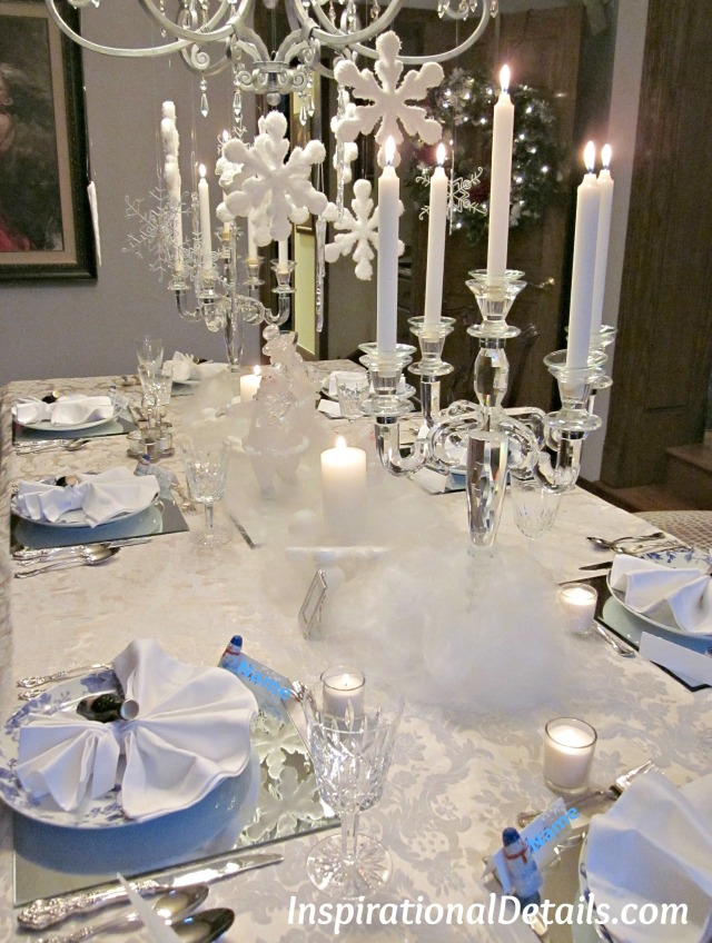 winter wonderland table theme