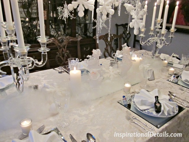 snowman tablescape