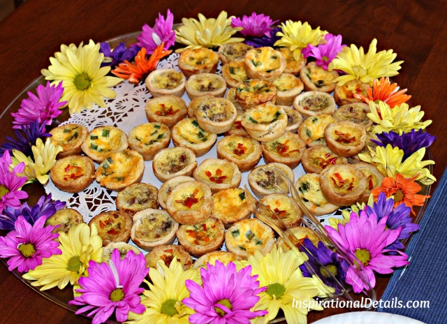 mini quiches for bridal shower