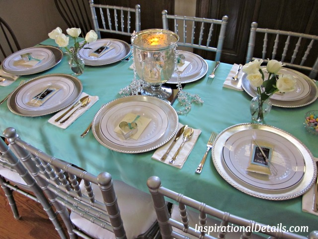 aqua blue bridal shower