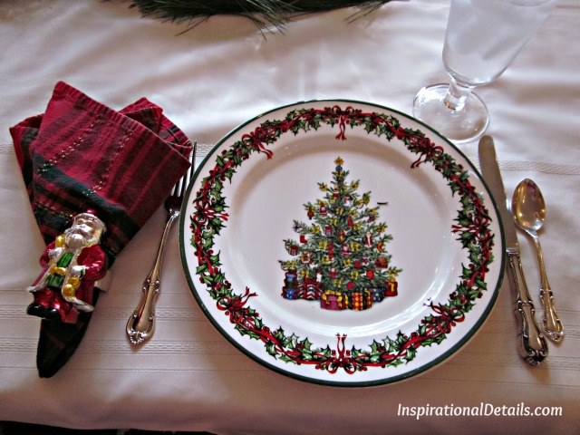 holiday lunch tablescape