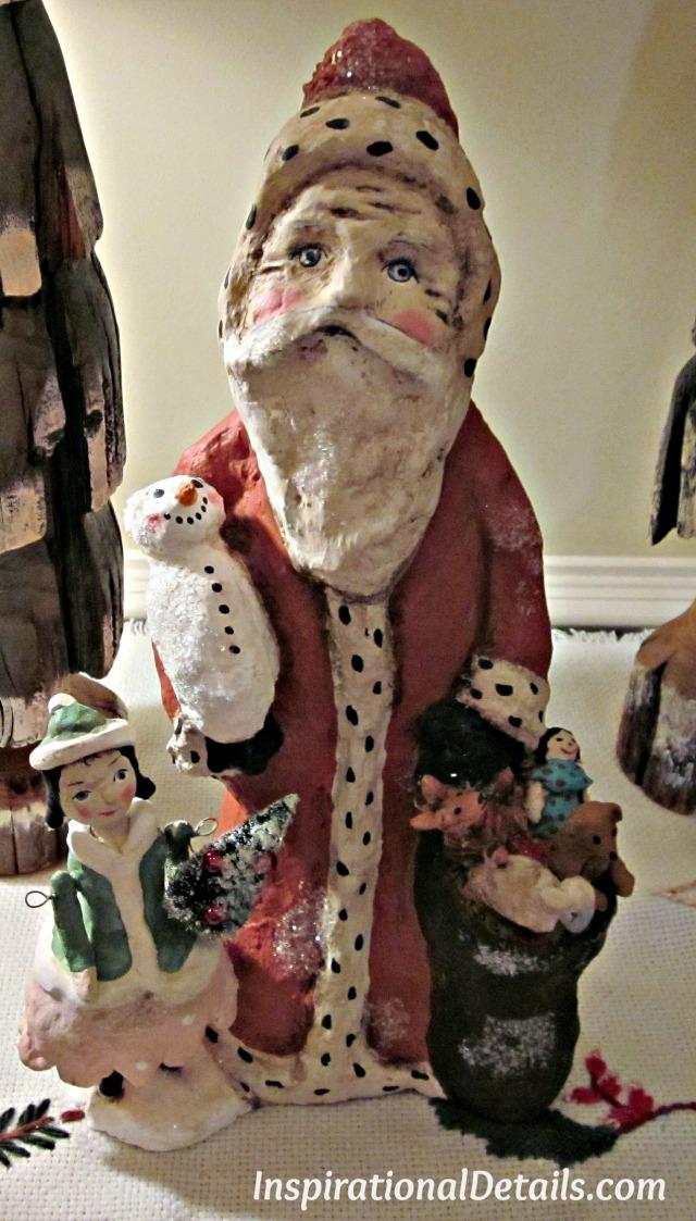 hand carved Santa