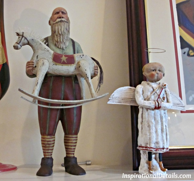 beautiful hand carved holiday figures