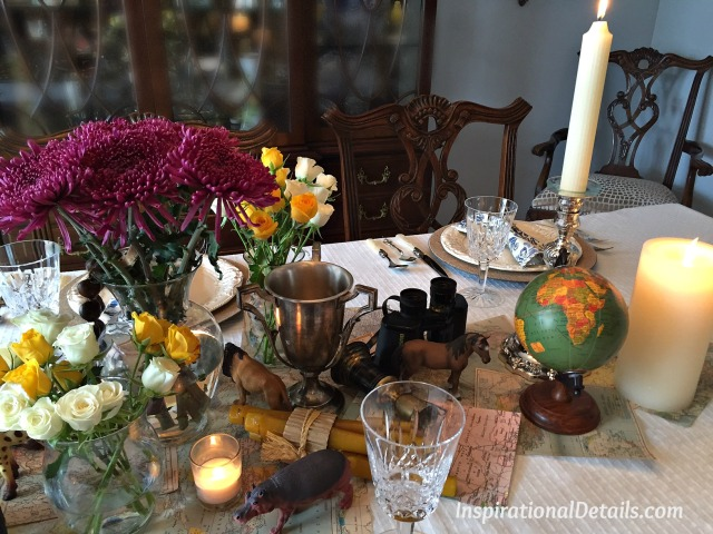 Out of Africa table decor ideas