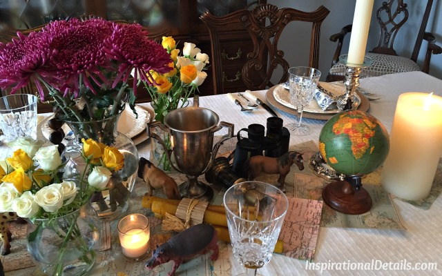 """Out of Africa"" table ideas"