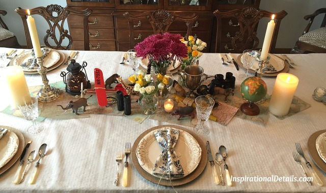 """Circling the Sun"" book tablescape"