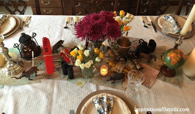 "an ""Out of Africa"" tablescape"