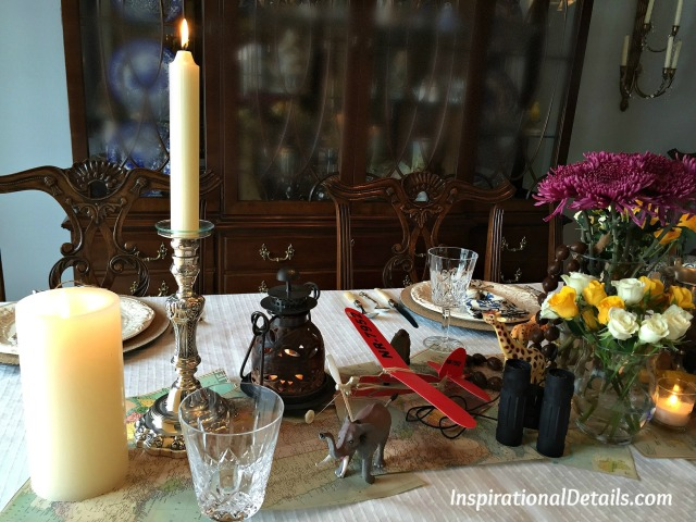 "tablescape for ""Circling the Sun"" book"