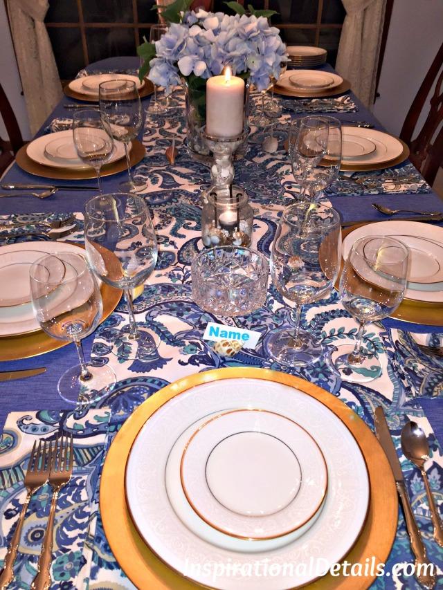 coastal dinner tablescape