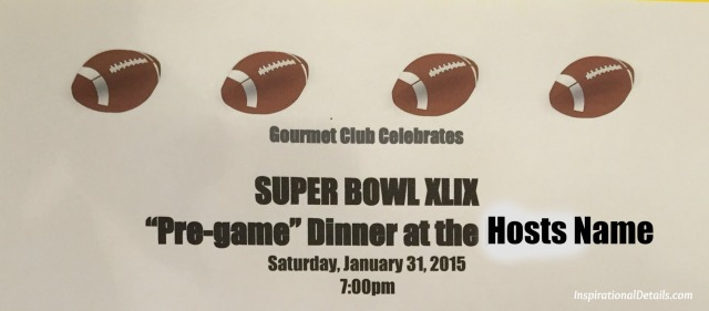 pre-superbowl dinner party