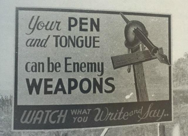 billboard from Oak Ridge, TN during wartime