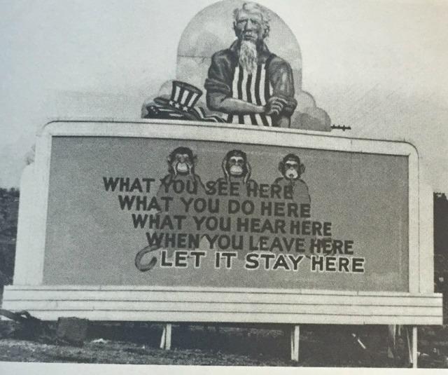 billboard from WWII - Oak Ridge Tennessee