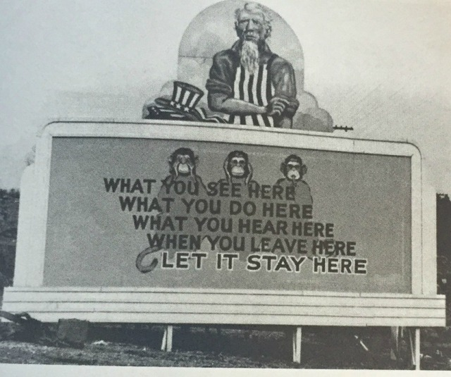 billboard from WWII - Oak Ridge Tennessee