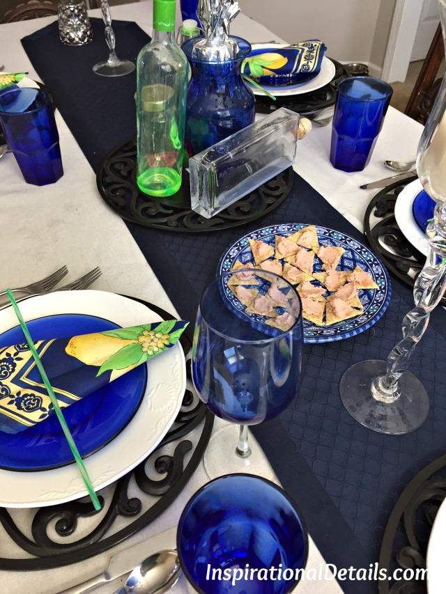 cobalt blue table ideas