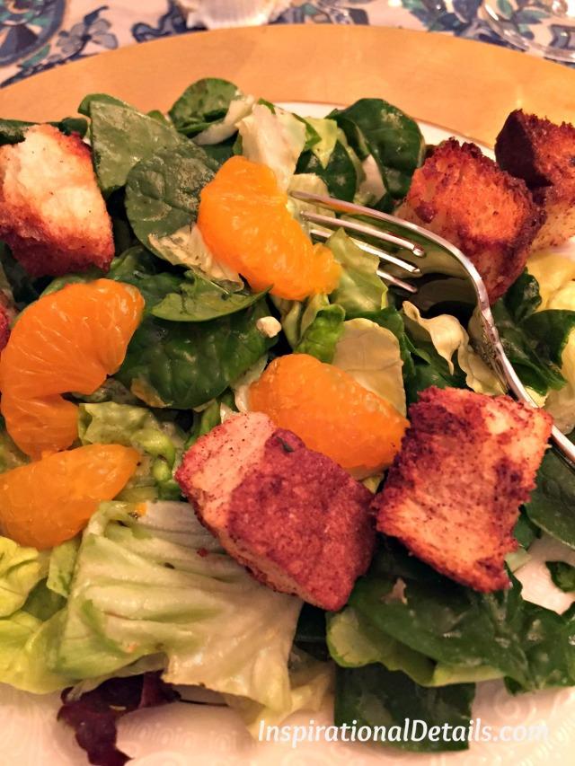 mixed greens citrus salad