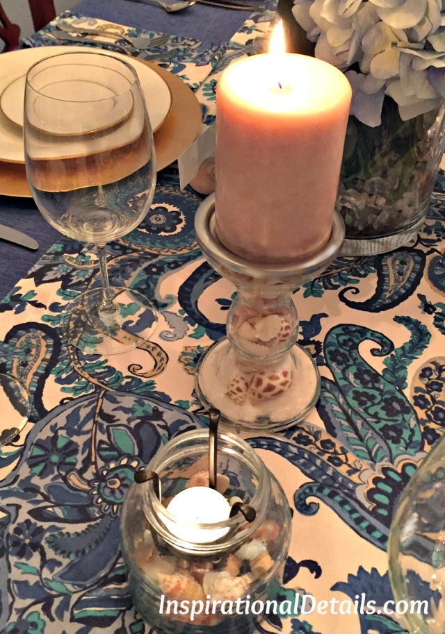 beach / ocean tablescape