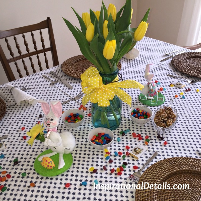 casual Easter theme table