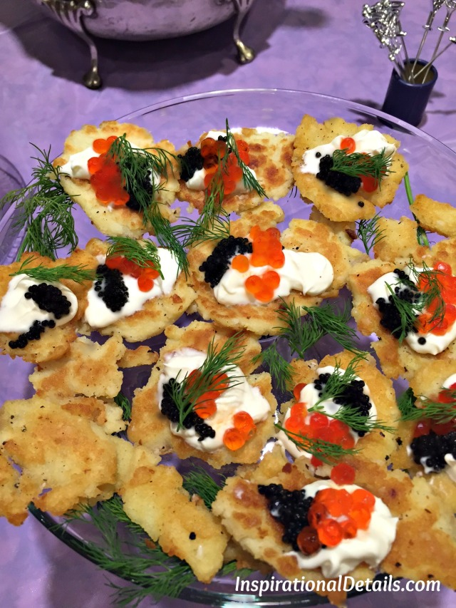 Potato Pancake with Caviar & Salmon with Dill