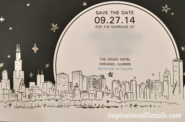 Chicago skyline wedding Save the Date