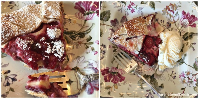 book club lunch - raspberry galette