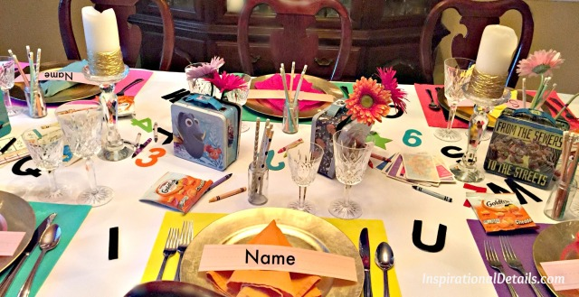 school theme tablescape ideas