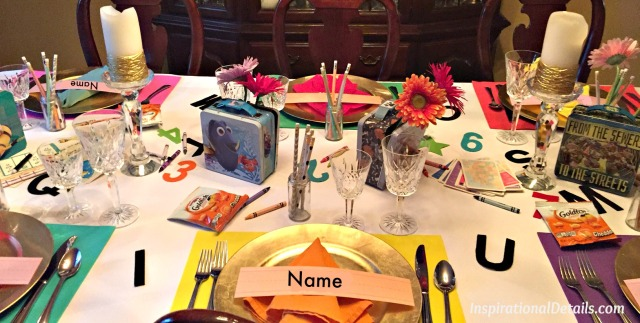 back to school theme table ideas