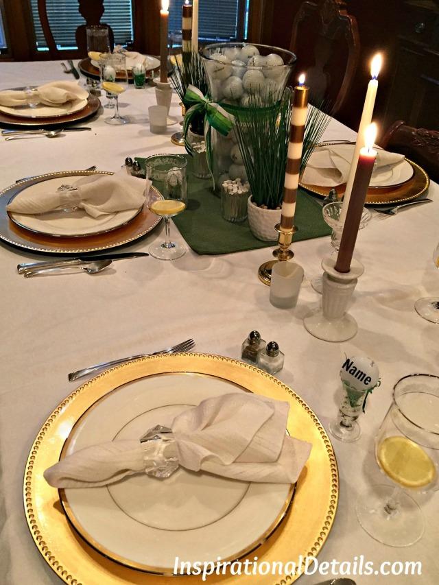 golf-themed dinner party ideas
