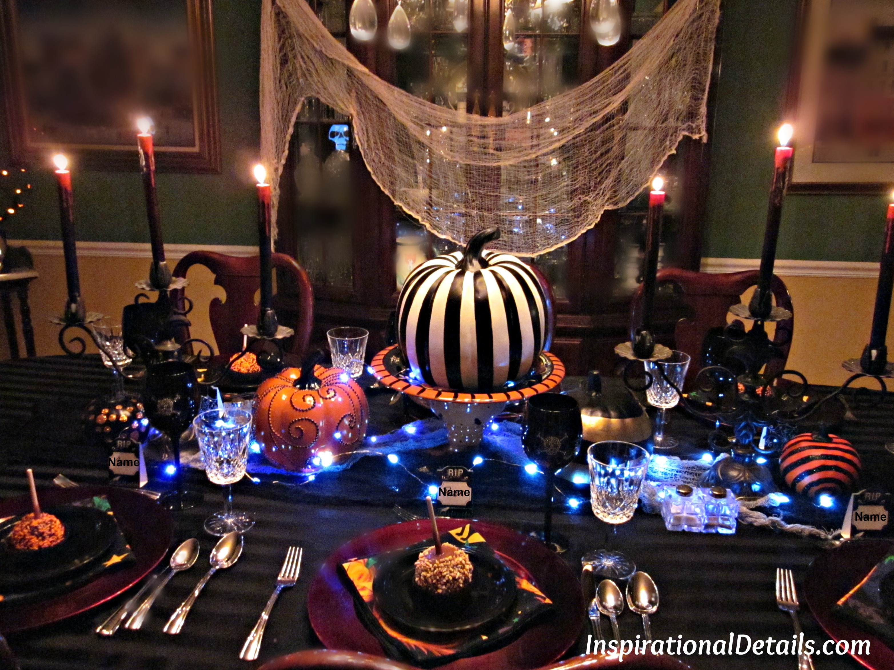 Gourmet Menu Ideas For Dinner Party Part - 50: Halloween Dinner Table Ideas