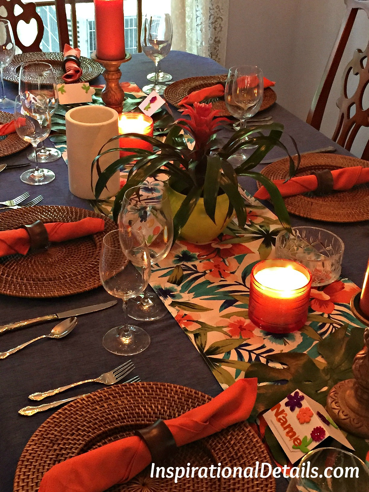 Polynesian Theme Dinner Party And Tablescape