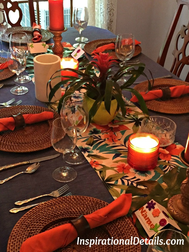 polynesian theme table ideas