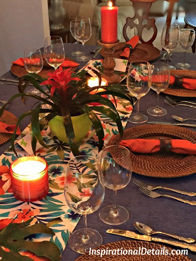 tropical island/Polynesian dinner party ideas