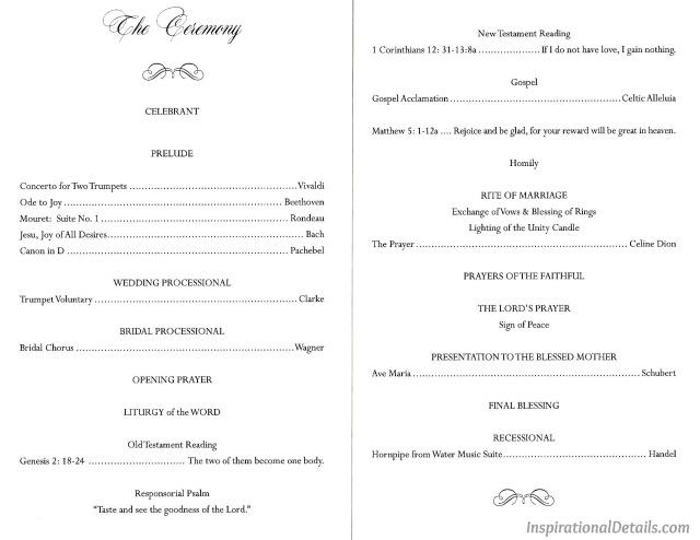 good ideasfor wedding ceremony music/readings